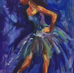 "Acrylic and Oil on Canvas 9"" x 12"" 2009"