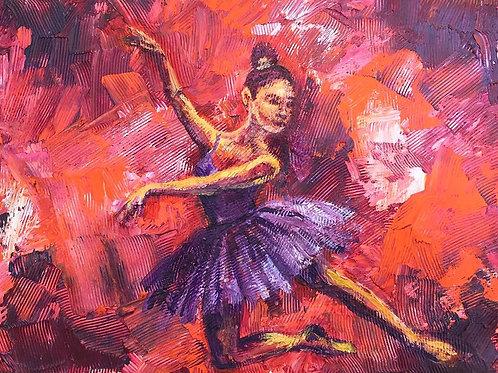 Textured Ballet Dancer
