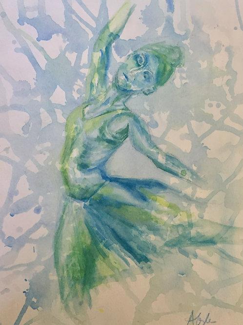 Blue Ballet Dancer