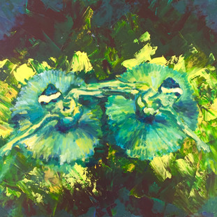 "Oil and Acrylic on Canvas 18"" x 24""  2017"