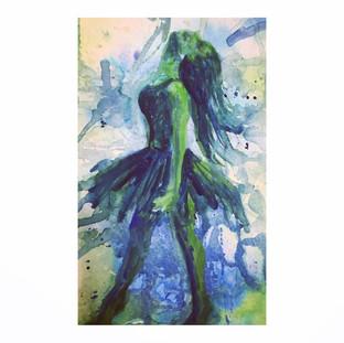 """Watercolor  5"""" x 7"""" 2017"""