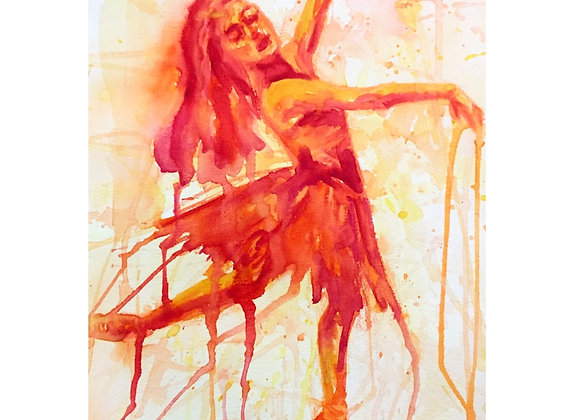 Drippy Orange Dancer