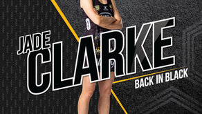 Jade Clarke back in black-and-gold