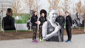 Wasps Netball players unveiled on famous Friargate hoarding