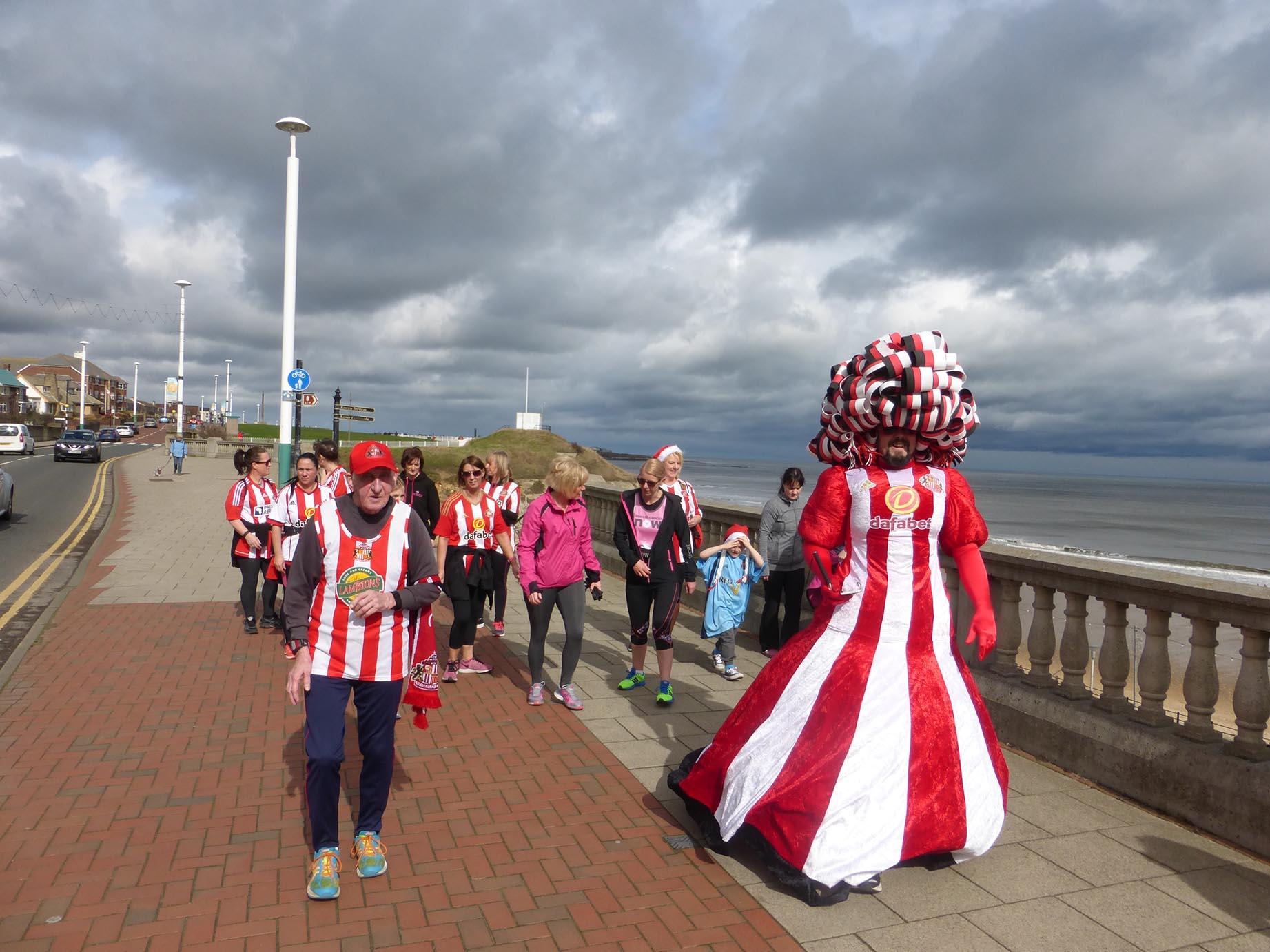 Big Pink Dress Sunderland 10km 2017