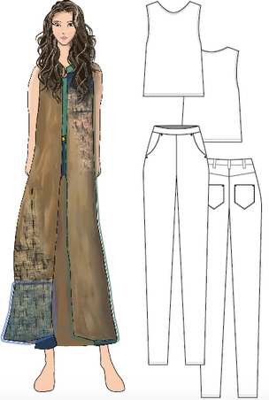 Look 2 Illustration and Flat