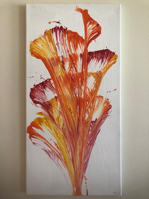 String Art Red/Orange Painting