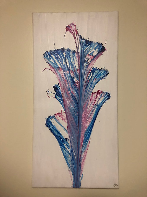 String Art Pink/Blue Painting
