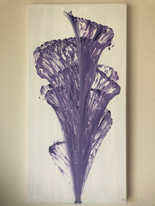 String Art Purple Painting