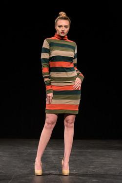 Striped Terry Dress