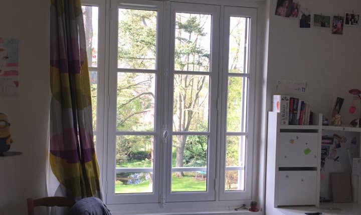 Fenêtre à quatre vantaux, gamme Patrimoine