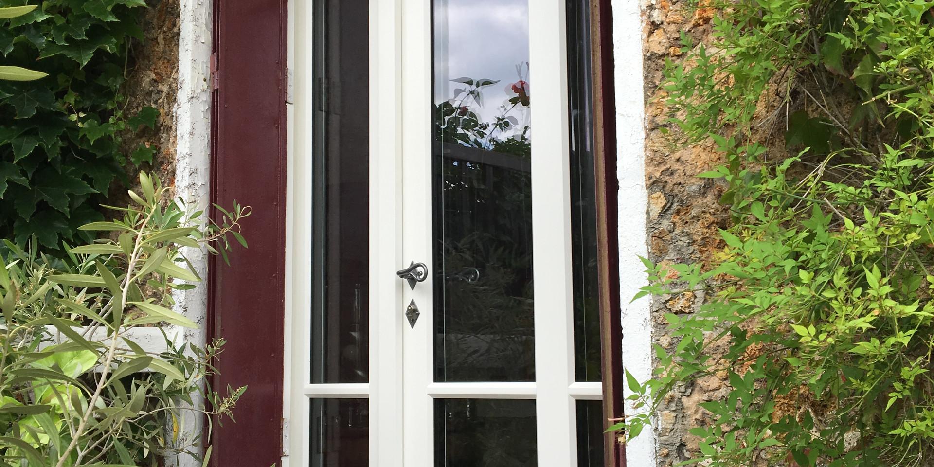 Porte fenêtre tiercé, copie de l'existant, gamme Patrimoine