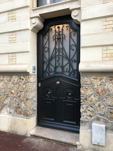 Porte d'entrée en bois gamme Création