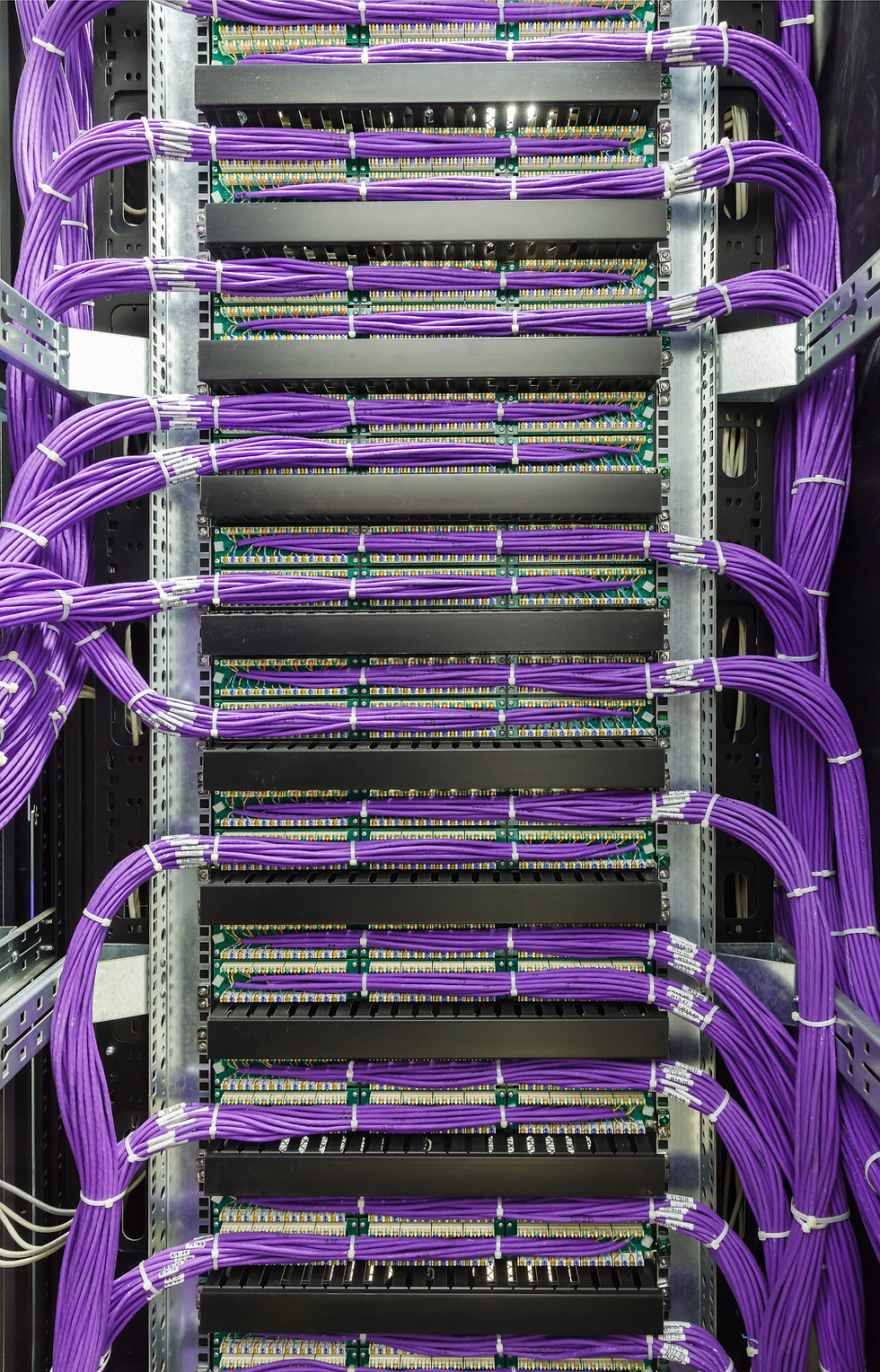 Large group of Cat 6 Data Cabling St Louis