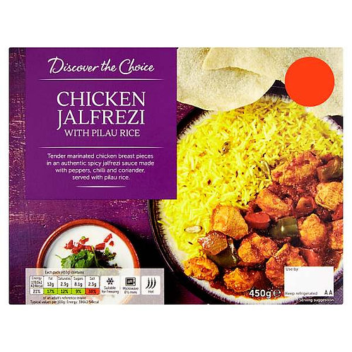 Chicken Jalfrezi (mix and match 2 for £5.00)