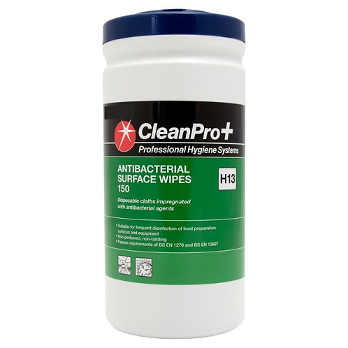 Antibacterial surface wipes