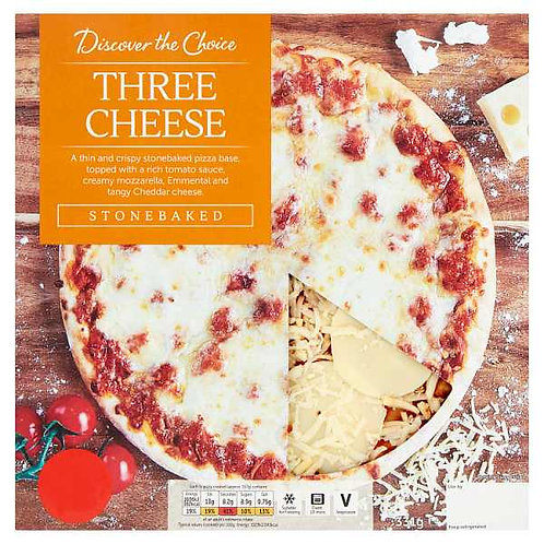 Three Cheese Pizza (mix and Match 2 for £5.00)