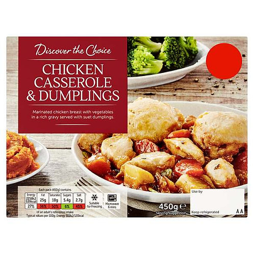 Chicken casserole (mix and match 2 for £5.00)