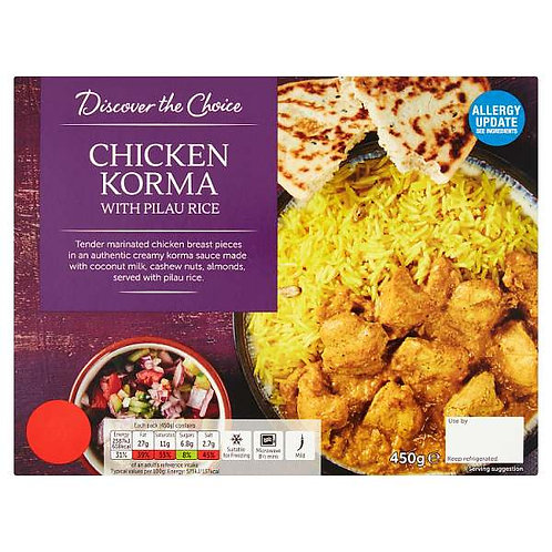 Chicken korma (mix and match 2 for £5.00)