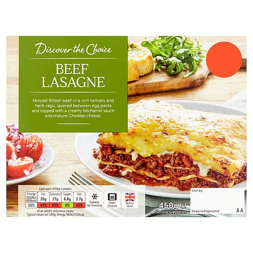 Beef Lasagne (mix and match 2 for £5.00)