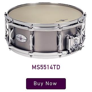 """Black Swamp Multisonic 5.5"""" x 14"""" Titanium Snare Drum"""