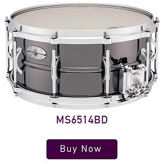 """Black Swamp Multisonic 6.5"""" x 14"""" Medallion Brass Snare Drum"""