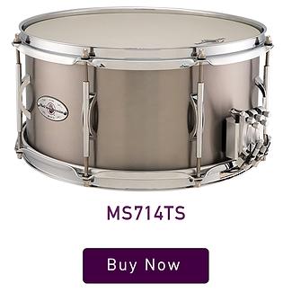 """Black Swamp Multisonic 7"""" x 14"""" Titanium Snare Drum"""