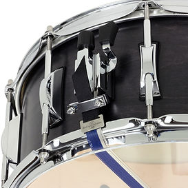 The Black Swamp Concert Maple snare drum features our custom made cable snares.