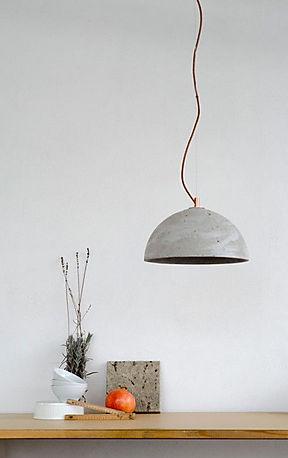 Egyedi cementlámpa