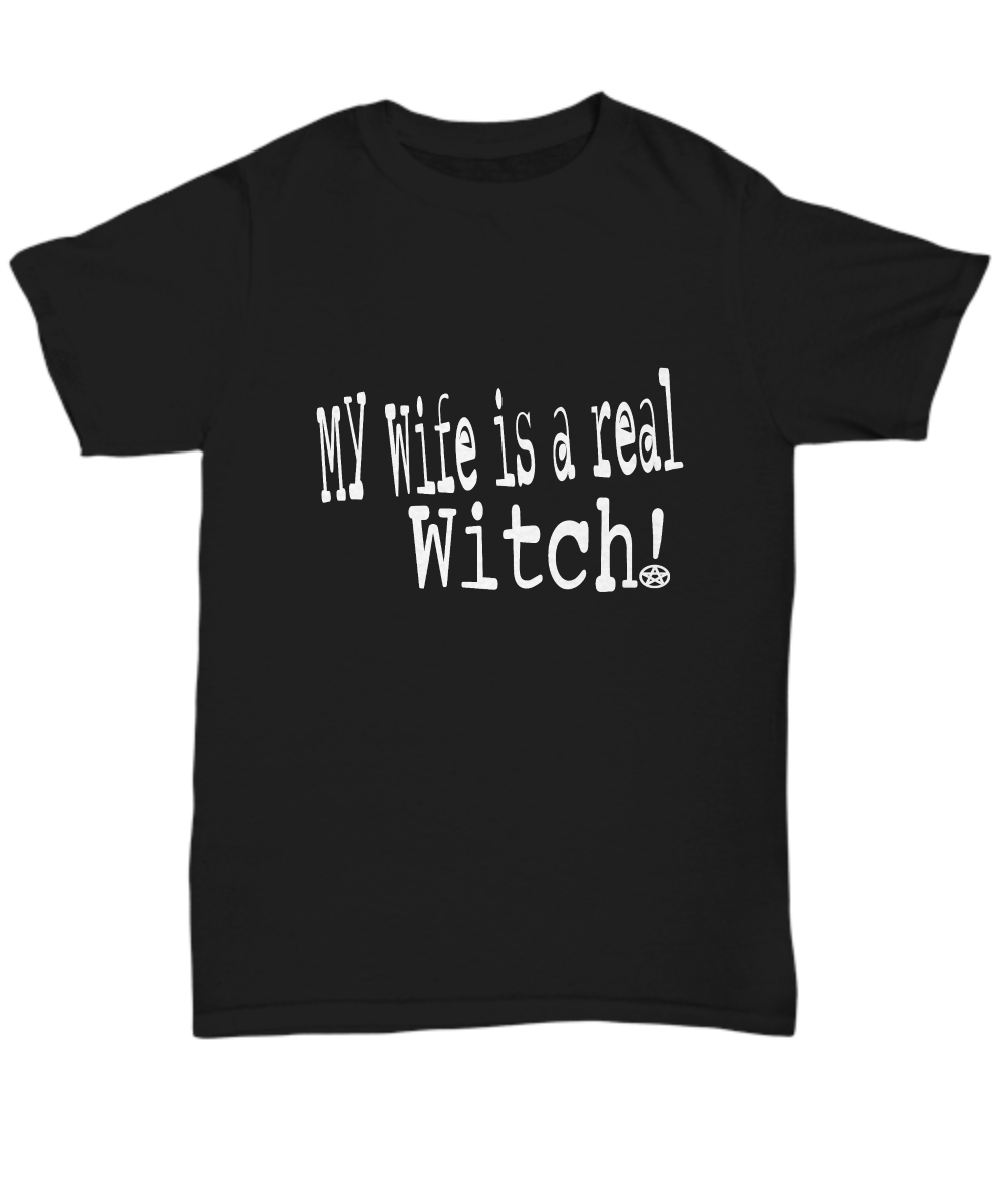 my wife is a real witch t-shirt