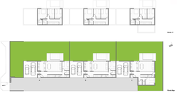 2 Casas Jardin planta tres casas Web PNG