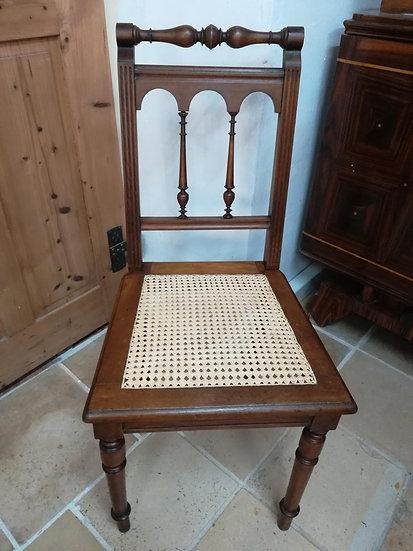 Stuhl mit Sitzgeflecht, Gründerzeit