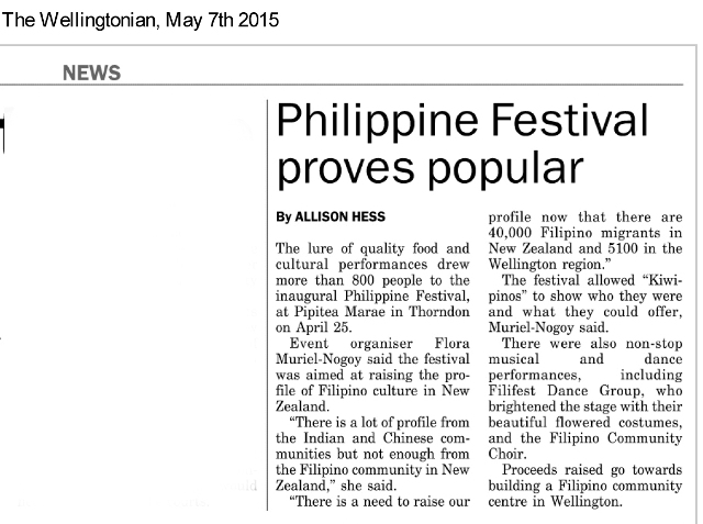 Phil Festival News Clipping