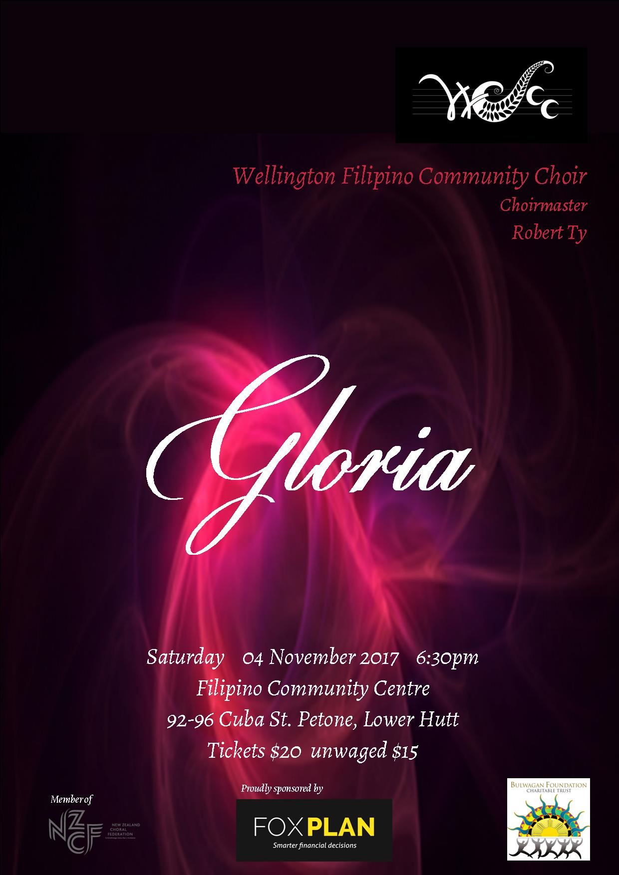 Gloria Concert Poster