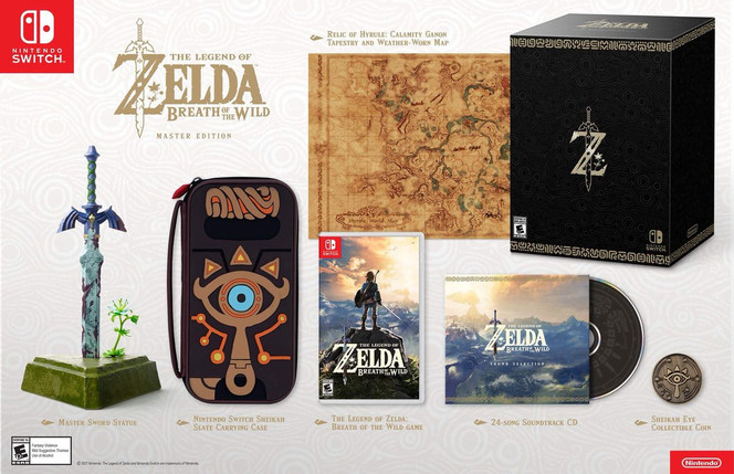 Zelda Breath of the Wild Master Edition Revealed