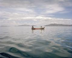 Fisher on lake Titicaca