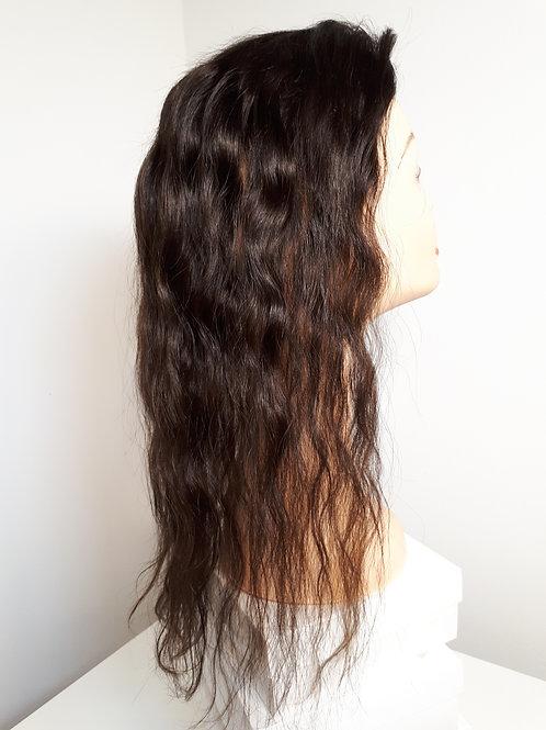 טופר חום טבעי שיער גלי