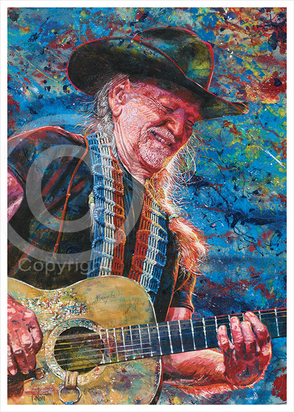 Willie Nelson by Tom Noll www.tomnoll.com