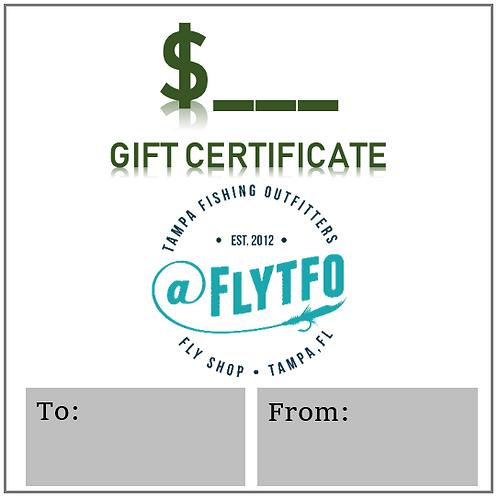 Custom Amount Gift Certificate