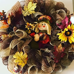 mesh fall scarecrow 2019 Makers Workshop