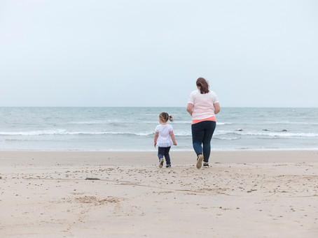 A daughter is a little girl , who grows up to be your best friend. Newborough, Anglesey.