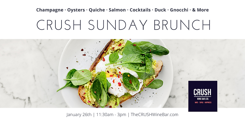 Sunday Brunch at CRUSH!