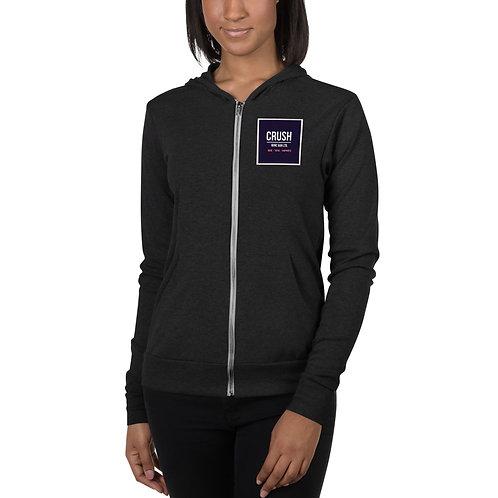 CRUSH Unisex zip hoodie