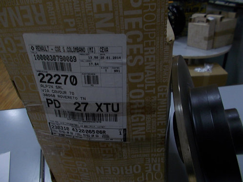 432006506R Kit 2 dischi freno posteriori Originali Renault