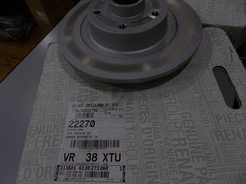 432027306R kit 2 dischi freno posteriori Originali Renault