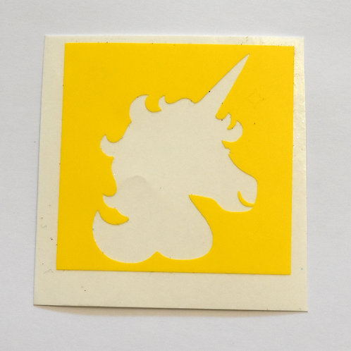 Unicorn Head Stencil - 5 Pack