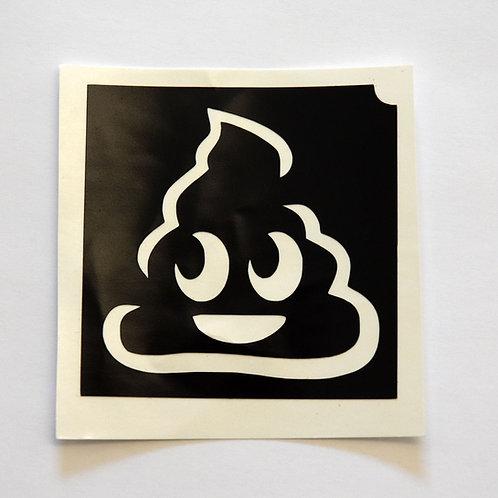 Poop Emoji Stencil  - 5 Pack