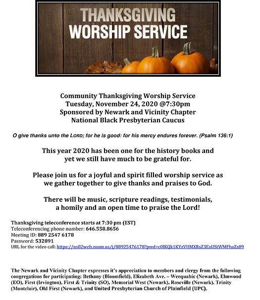 Joint Thanksgiving Worship Service Flyer