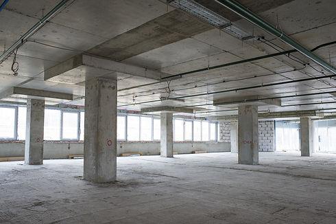 Unfinished interior of business center u