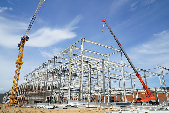 Structure building of steel structure ro